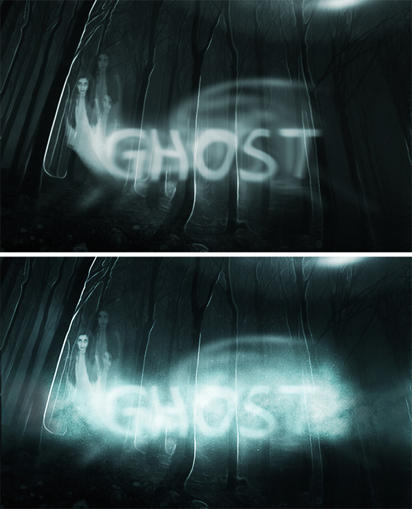 How to Create a Spooky Ghost Text Effect in Photoshop