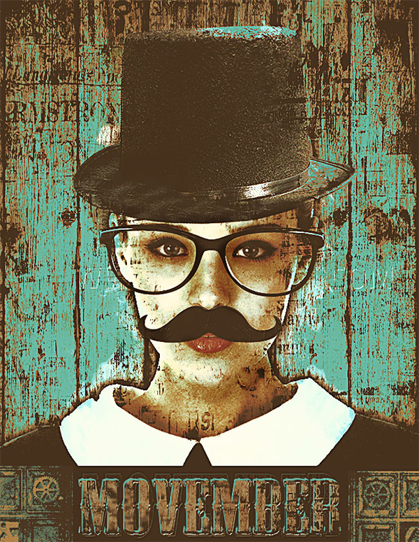 Movember Flyer Photoshop Tutorial