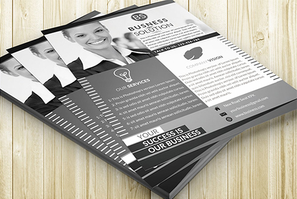 Black & White Corporate Flyer