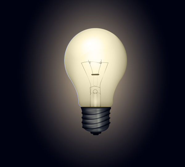 How to Creat Bright Light Bulb Vector