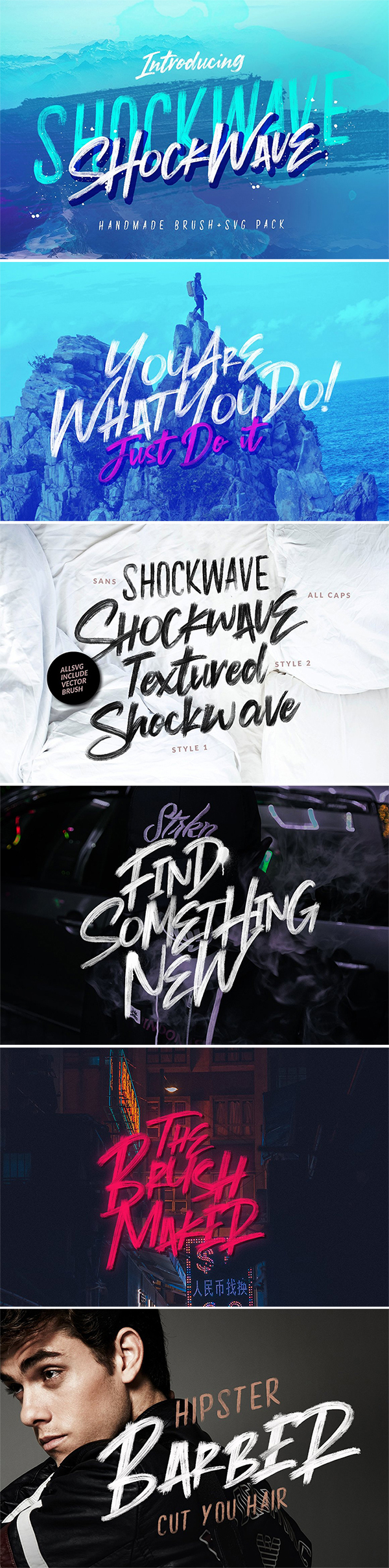 Stylish Shockwave Brush Free Font