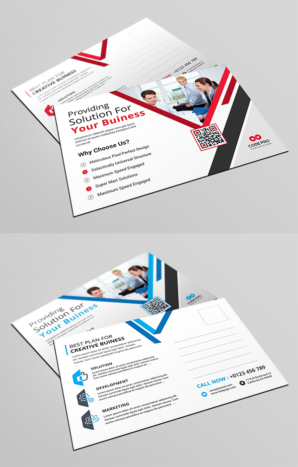 Post Card Business Card