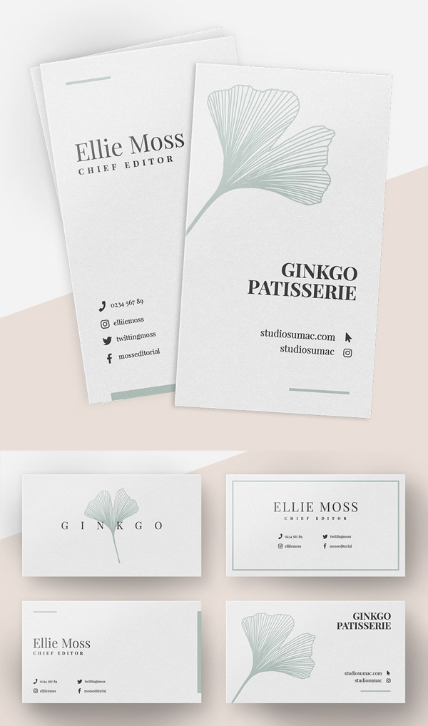 Ginkgo Business Card Templates