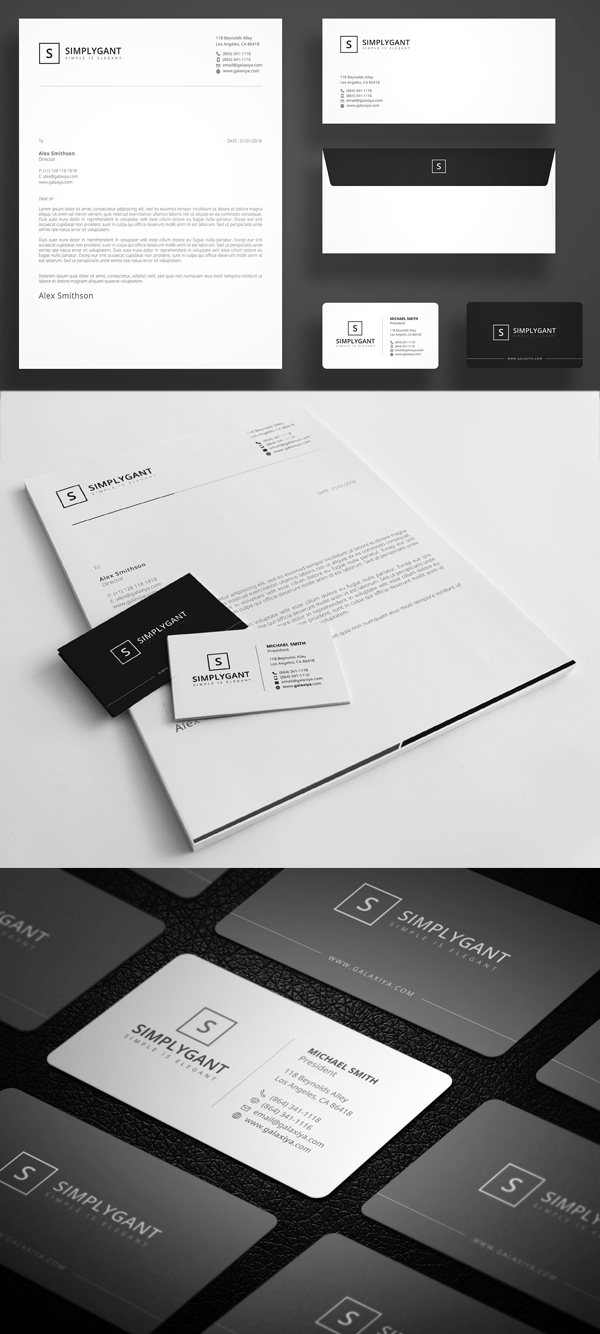 Simple Minimal Corporate Stationery