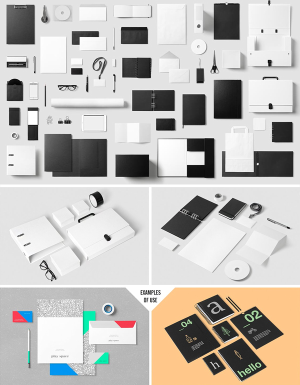 Corporate & Creative Stationery Mock-Up