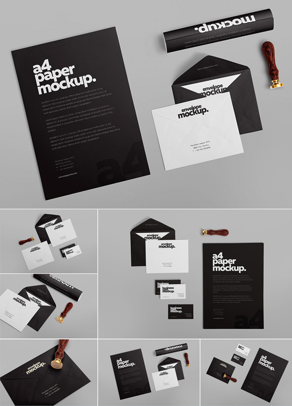 Stationery Design Mockups