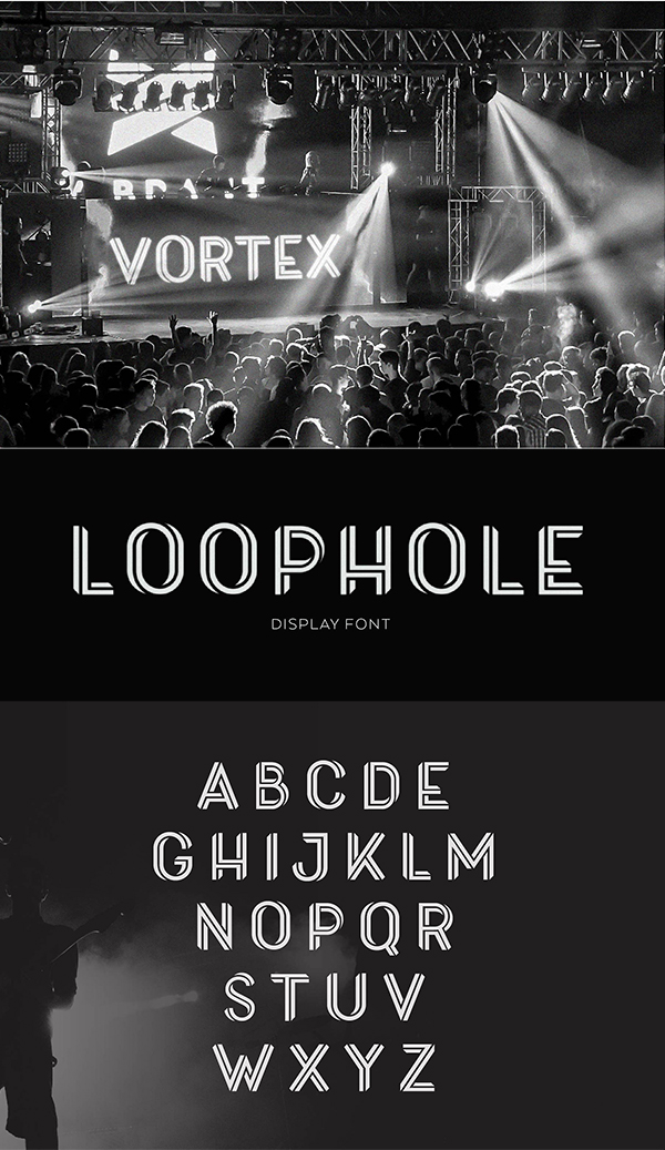 Loophold Display Font