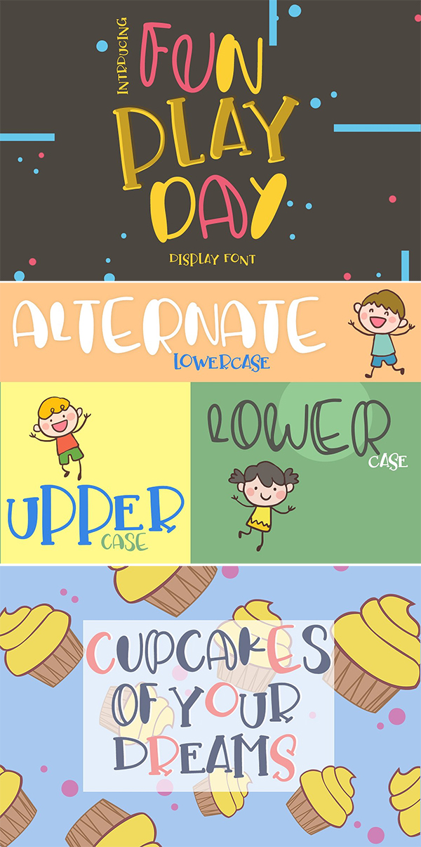Fun Play Day Display Font