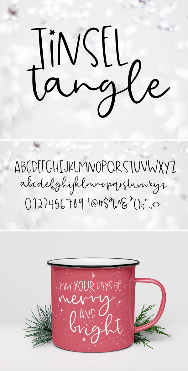 Tinsel Tangle Font