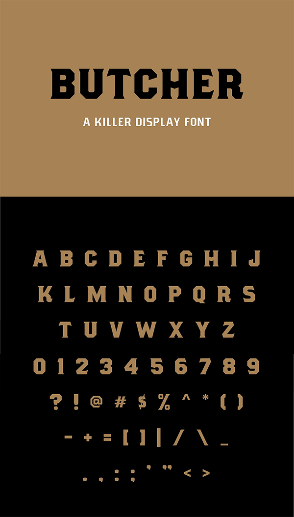 Butcher Killer Display Font