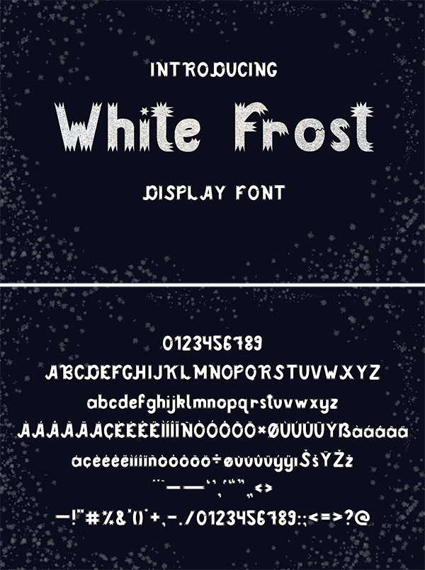 White Frost Font| Display