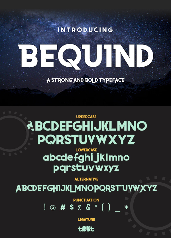 Bequind - A Modern Display Font