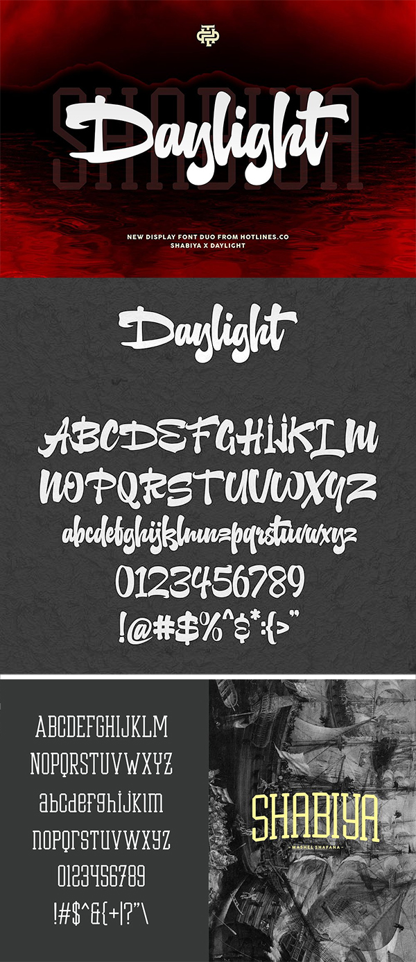 Daylight x Shabiya Display Font