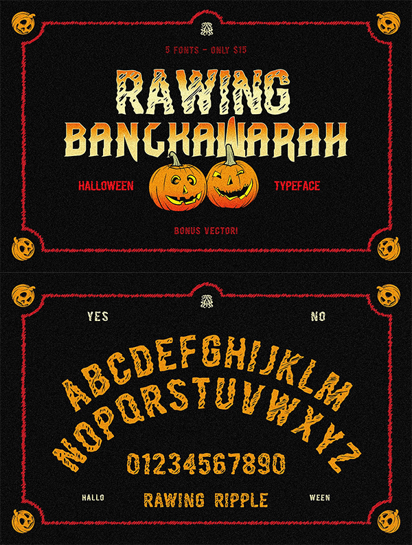 Rawing & Bangkawarah Display Font