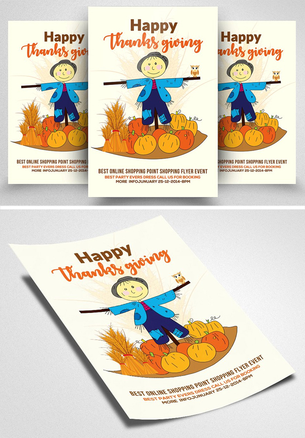 Thanksgiving Psd Flyer Templates