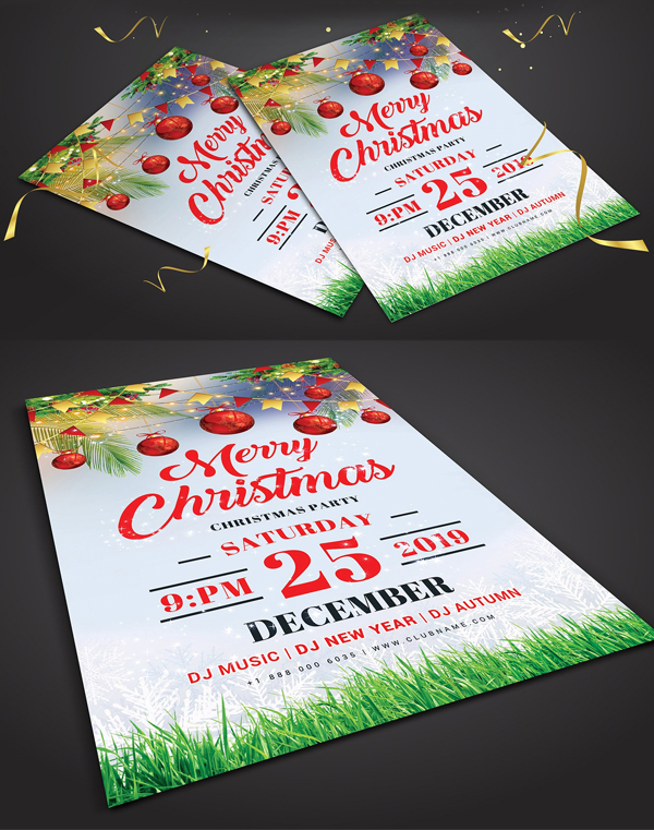 Christmas Flyer Template Design