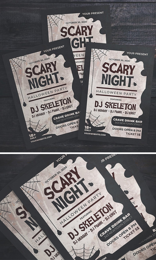 Scary Night Party Flyer