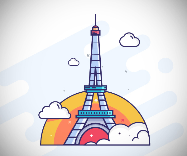 Eiffel Tower Logo Design