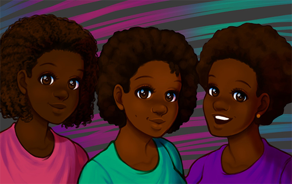 How to Paint Natural, Afro Textured Hair in Adobe Photoshop