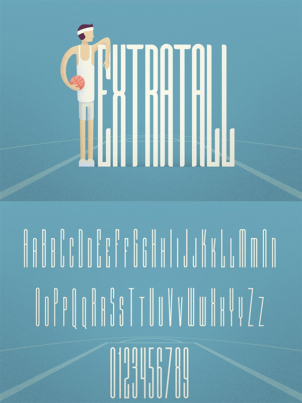 Extratall Font