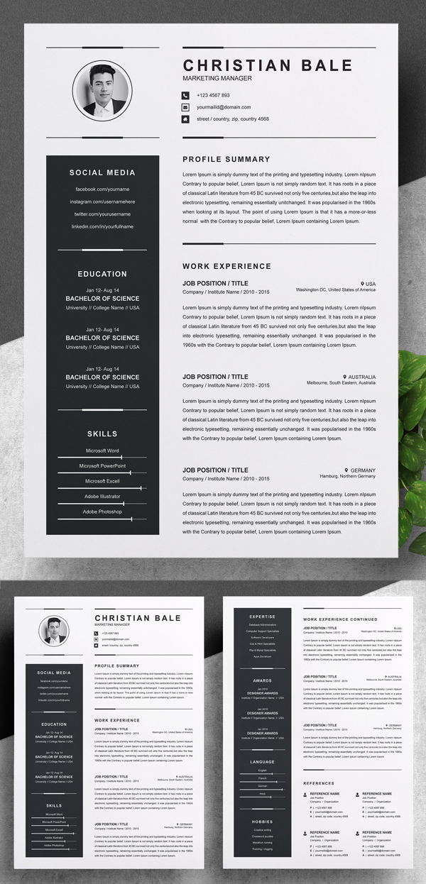 Creative Resume / CV Template
