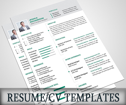 Post thumbnail of Impressive & Creative Resume / CV Templates to Get Your Dream Job