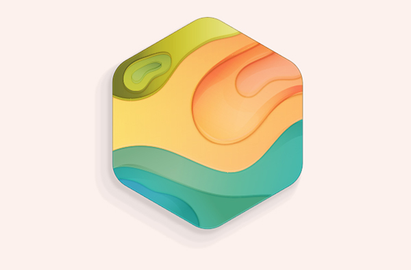 How to Create an Abstract Topographical Map Icon