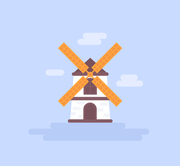 Simple Steps to Make a Flat Windmill Vector in Adobe Illustrator