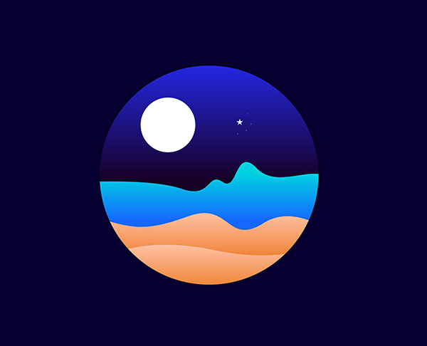 Illustrator Tutorials | Flat Night Design