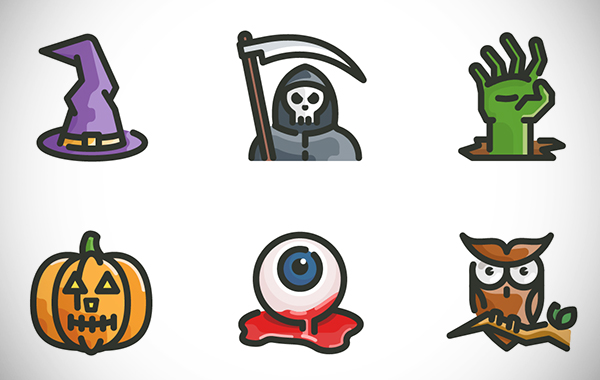 Halloween icons for Free