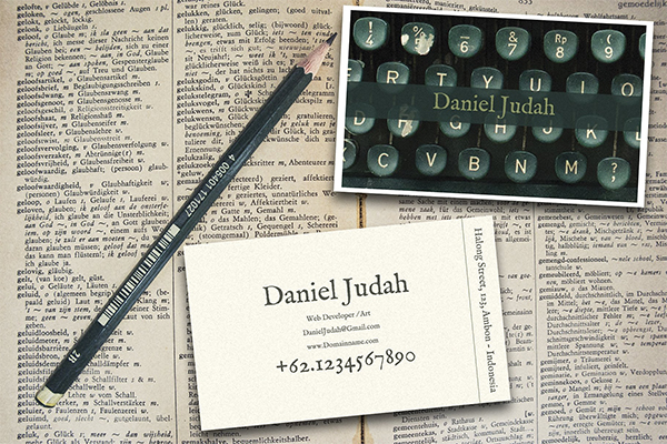 Vintage Typewriter Business Card