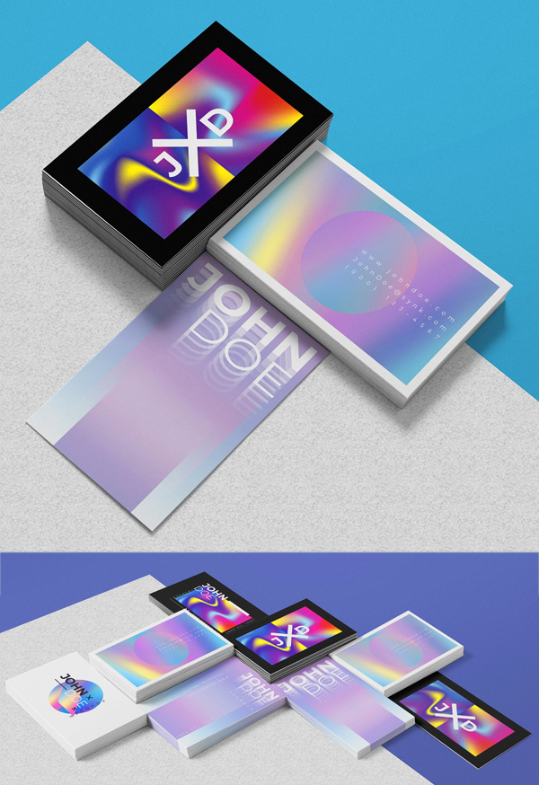 Holographic Business Card Templates