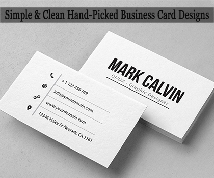 20 Creative Hand-Picked Print Ready Business Card Templates Designs