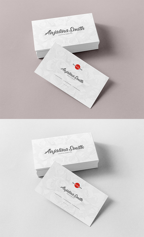 Awesome Top Brand Business Card PSD Mockup Free Download