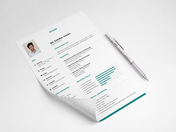 Free Clean Neat Resume Template With Elegant Design