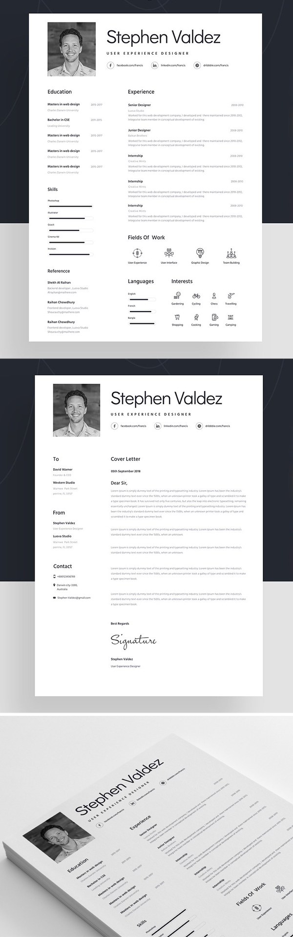 Resume Template For Designer