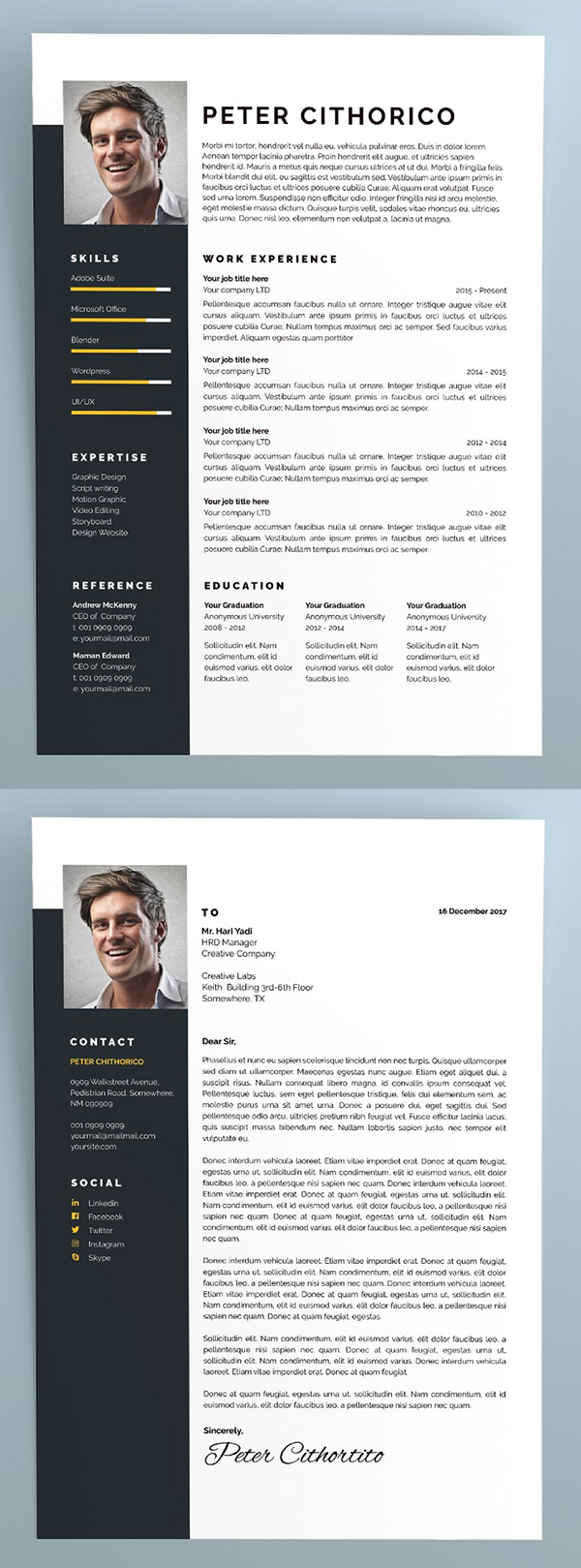 Clean and Simple Resume Template