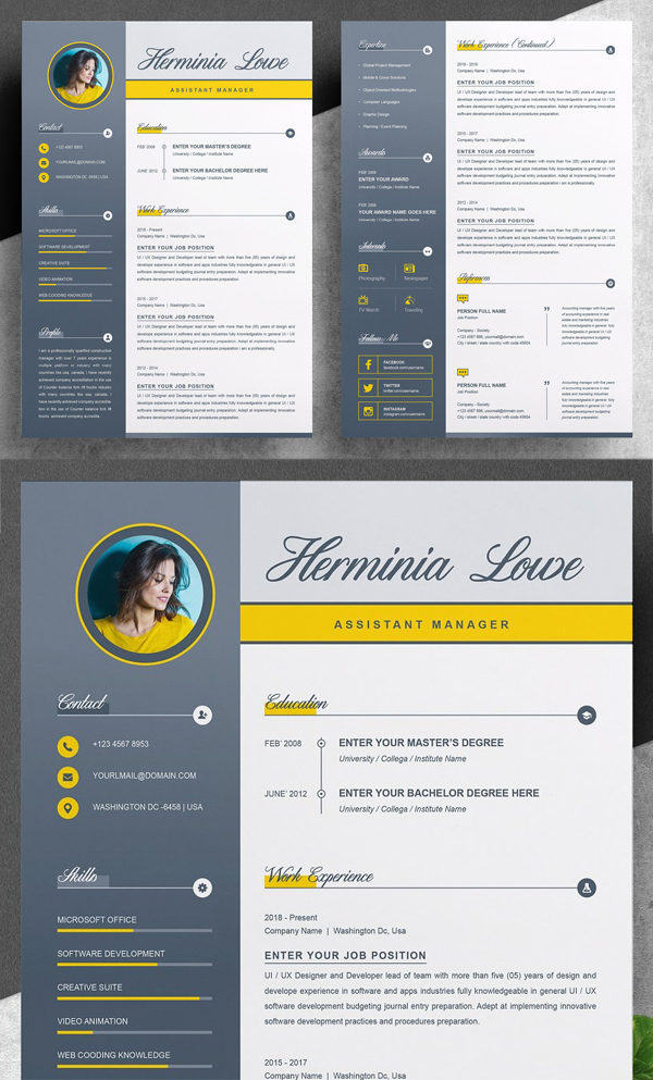 Stylish Resume / CV Template