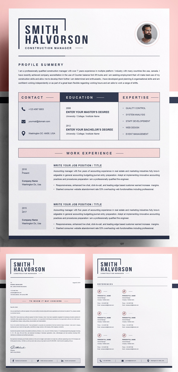 Professional & Creative Resume / CV Template Design