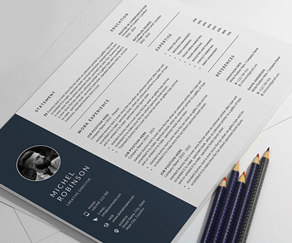 Minimal & Professional Resume / CV Templates To Get Your Dream Job
