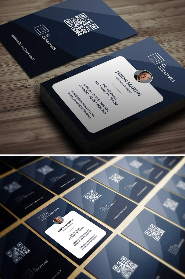 Awesome Blue Business Card Design