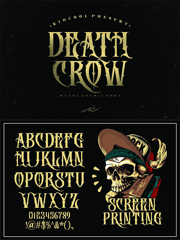 Awesome Death Crow Font