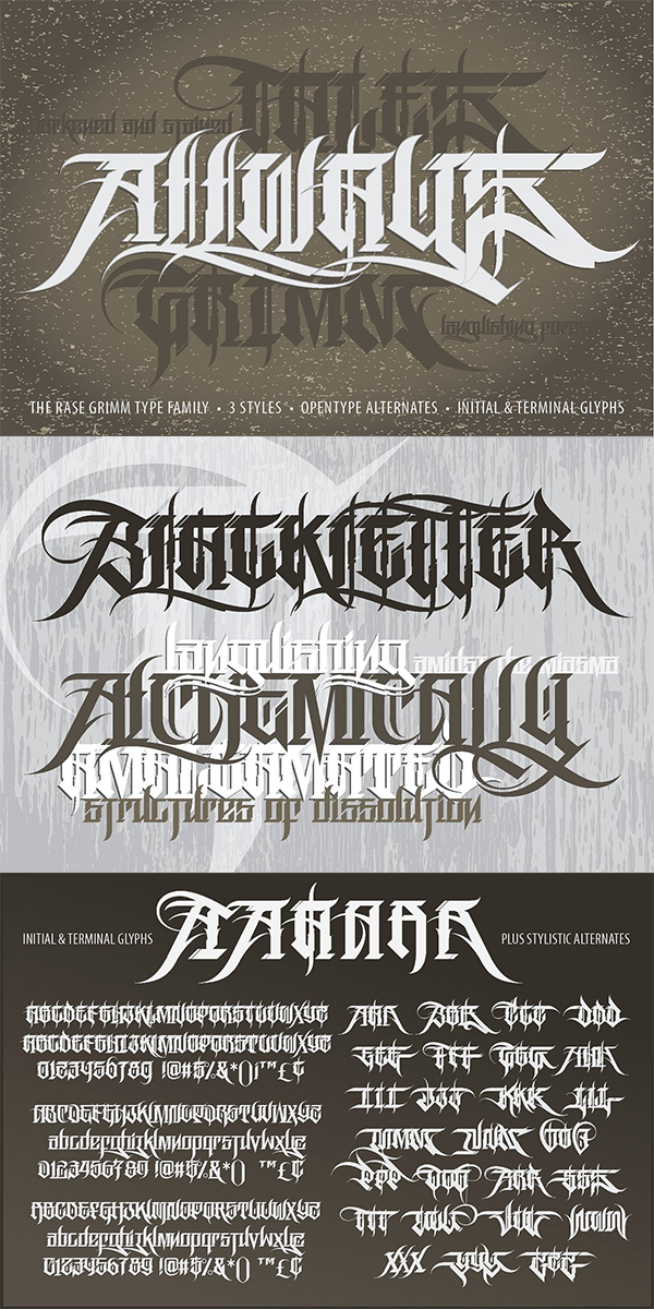 Rase Grimm Font Family