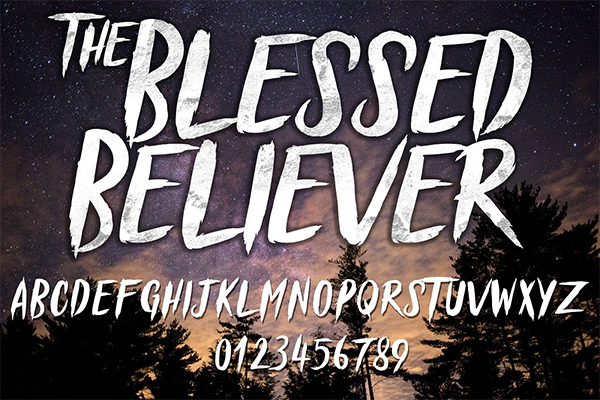 Blessed Believer Typeface