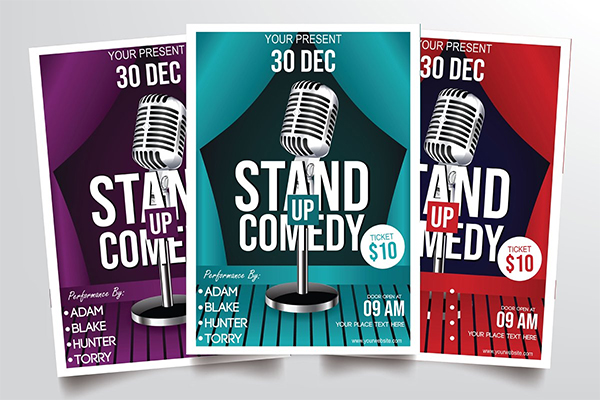 Stand Up Comedy Flyer Template Design