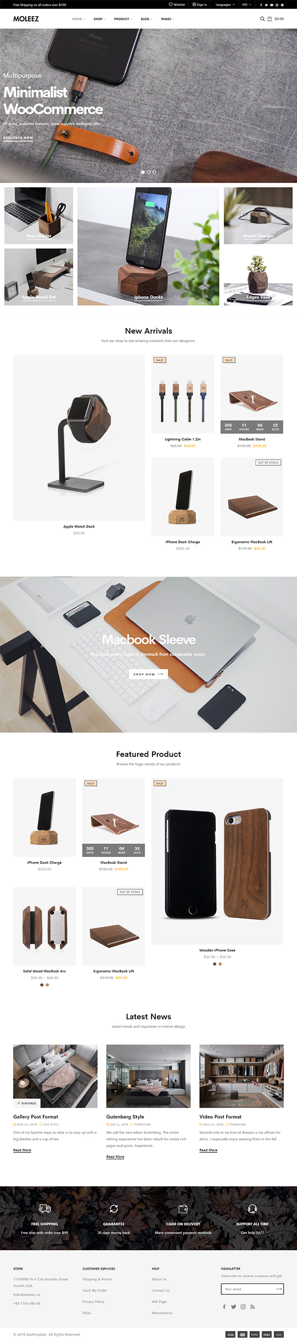 Moleez - Minimalist WordPress Theme for WooCommerce
