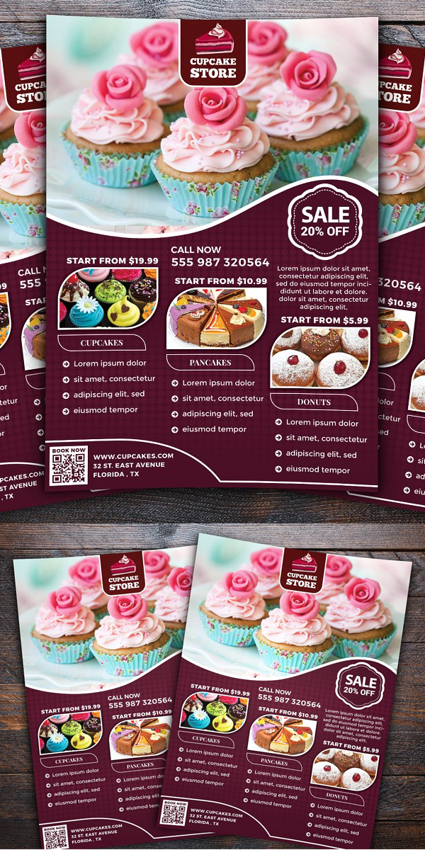 Cupcake Store Flyer