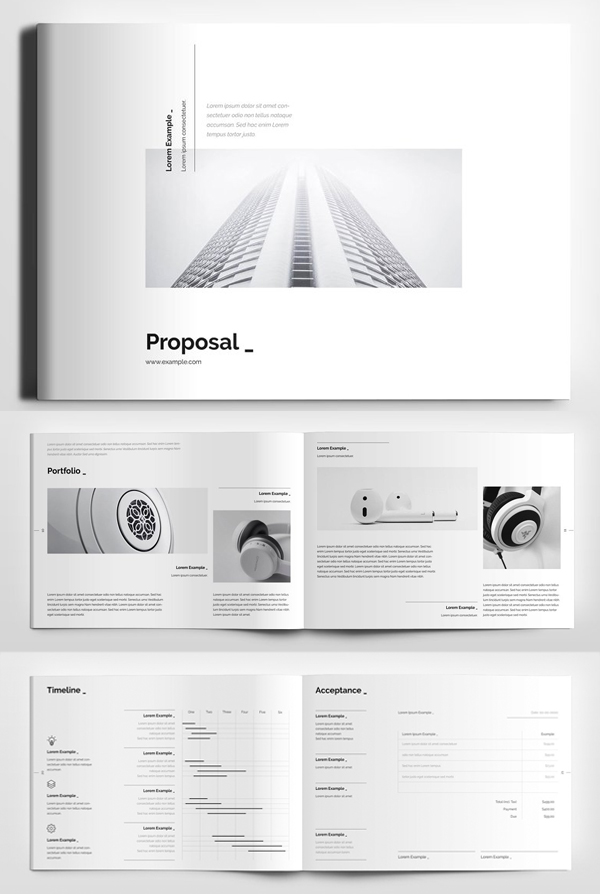 Clean simple minimal Proposal