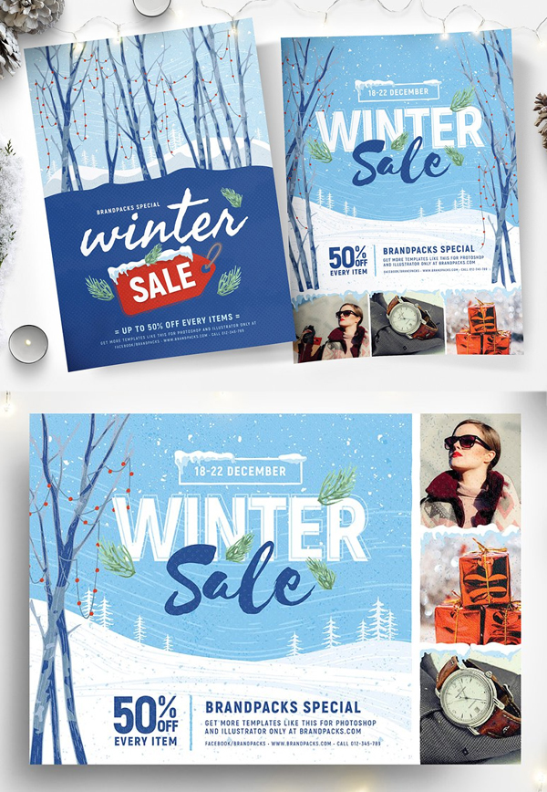 Winter Sale Flyers & Posters
