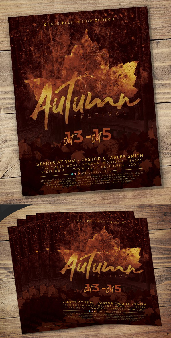 Autumn Festival Flyer Template
